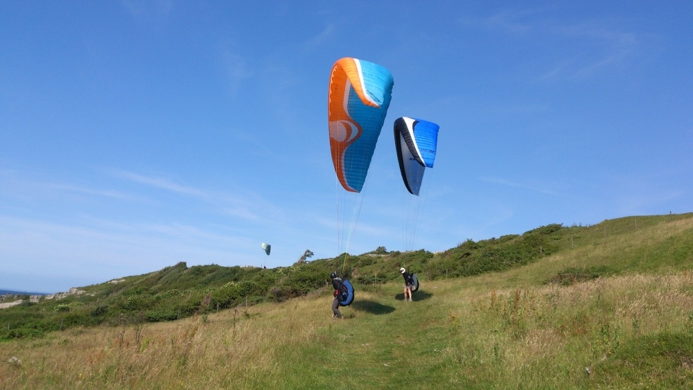 Vindflygarna trivdes i den fina vinden