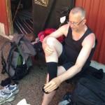 Fotvård någon mil från målet i Båstad